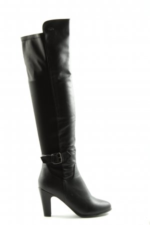 Buffalo girl Buty nad kolano czarny W stylu casual