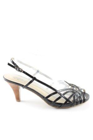 Buffalo girl Riemchen-Sandaletten schwarz Casual-Look