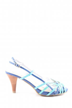 Buffalo girl Riemchen-Sandaletten blau-türkis Casual-Look