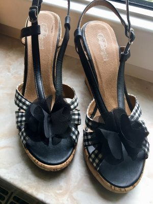 Buffalo girl High Heel Sandal black-white