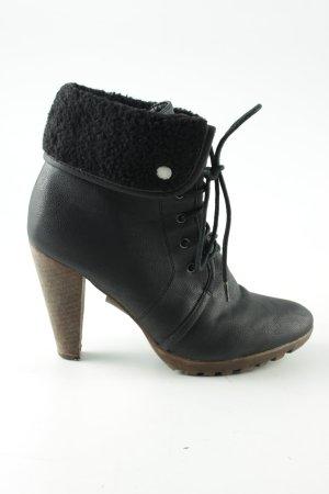 Buffalo girl Schnür-Stiefeletten schwarz Casual-Look