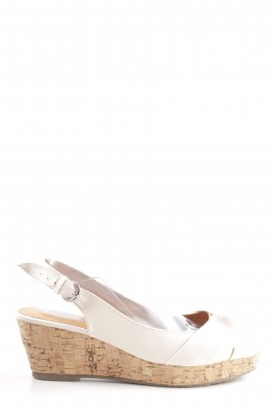Buffalo girl Wedges Sandaletten weiß-nude Casual-Look