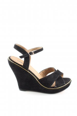 Buffalo girl Wedge Sandals black elegant