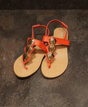 Buffalo girl Toe-Post sandals multicolored mixture fibre