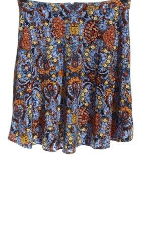 Buffalo Jupe évasée bleu-orange clair imprimé allover style décontracté