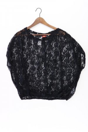Buffalo Häkelshirt Größe 36/38 neuwertig Kurzarm schwarz aus Polyester