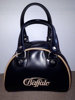 Buffalo Handtasche Bowlingbag schwarz beige