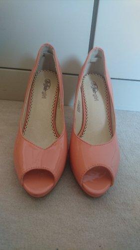 Buffalo Heels pfirsich/apricot Gr. 37 - 8cm Absatz