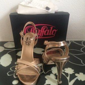 Buffalo High Heel Sandalette in  champagner/ roségold, Gr. 39
