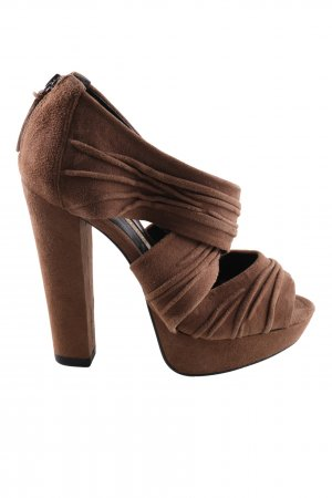 Buffalo High Heel Sandaletten braun extravaganter Stil