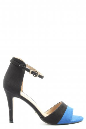 Buffalo High Heel Sandaletten schwarz-blau Casual-Look