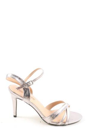 Buffalo High Heel Sandaletten silberfarben Casual-Look