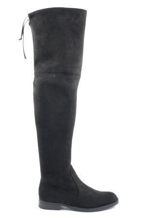Buffalo Botas de tacón alto negro look casual