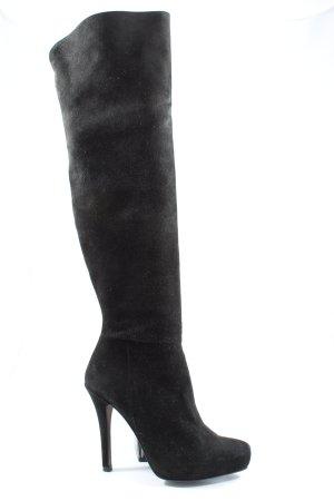 Buffalo Wysokie buty na obcasie czarny W stylu casual