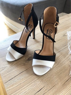 Buffalo High Heels black-white