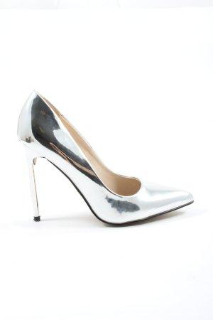 Buffalo High Heels silberfarben Elegant