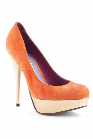 Buffalo High Heels dark orange-rose-gold-coloured extravagant style