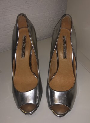 Buffalo High Heels silver-colored