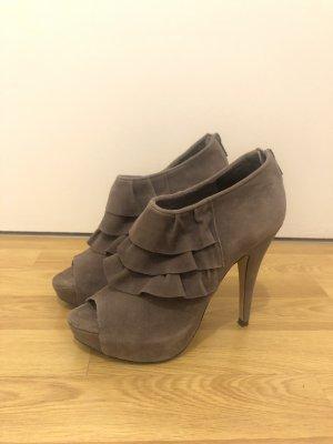 Buffalo, High Heels, Peeptoe, taupe, Gr. 38