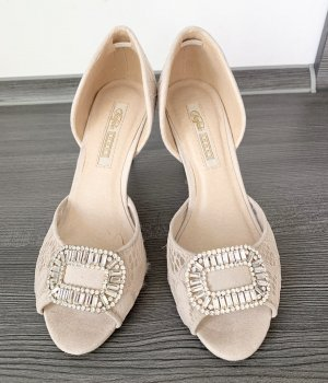 Buffalo High Heels Pumps Sandalen nude Silber 37