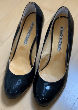 Buffalo High Heels, schwarz lack