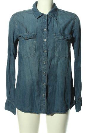 Buffalo Chemise en jean bleu style décontracté