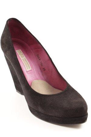 Buffalo Keil-Pumps schwarz-pink Party-Look