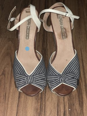 Buffalo Wedge Sandals blue