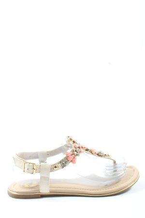 Buffalo Sandalo comodo bianco sporco-rosa stile casual