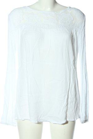 Buffalo Bluzka z długim rękawem biały W stylu casual
