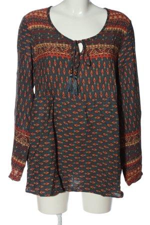 Buffalo Tunique-blouse orange clair-vert motif abstrait style décontracté