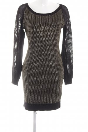 Buffalo Longsleeve Dress black-gold-colored allover print elegant