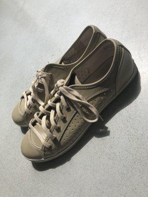 Buffalo Leder Sneaker 39 beige