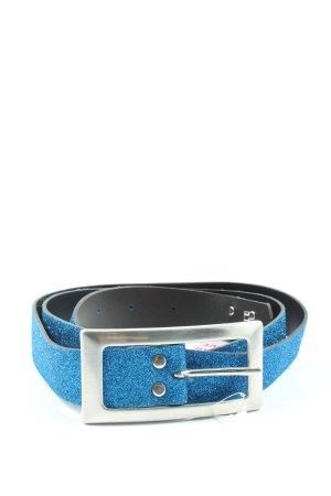 Buffalo Cinturón de cuero de imitación azul elegante