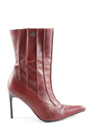 Buffalo London Absatz Stiefel rot Business-Look