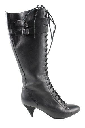 Buffalo London Absatz Stiefel schwarz Casual-Look
