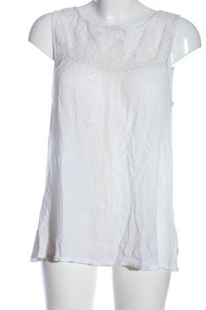 Buffalo London Blusa senza maniche bianco stile casual