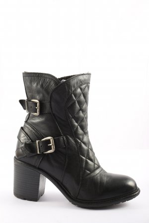 Buffalo London Booties schwarz Steppmuster Business-Look