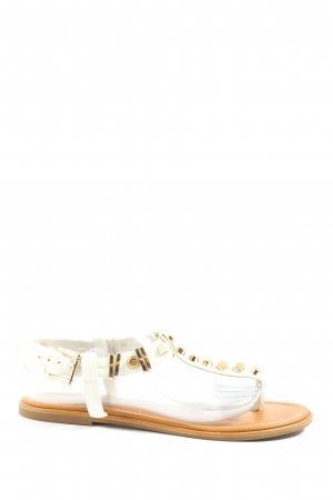 Buffalo London Sandalias Dianette blanco-color oro look casual