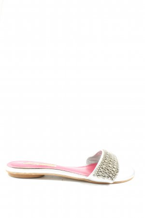 Buffalo London Dianette-Sandalen silberfarben-pink Elegant