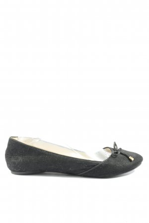 Buffalo London faltbare Ballerinas schwarz Casual-Look