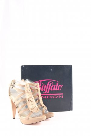 Buffalo London High Heel Sandaletten creme Elegant