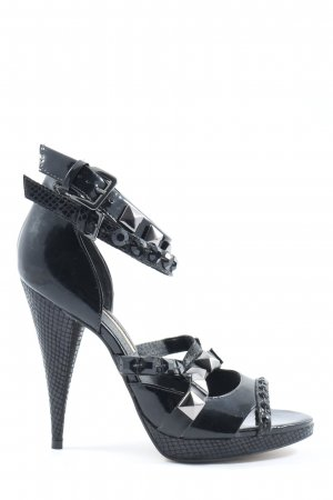 Buffalo London High Heel Sandaletten schwarz Elegant