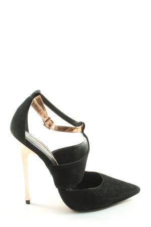 Buffalo London High Heel Sandaletten schwarz-goldfarben Casual-Look