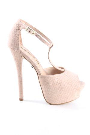 Buffalo London Sandaletto con tacco alto rosa stampa integrale elegante