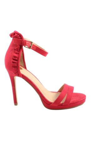 Buffalo London High Heel Sandaletten rot Elegant