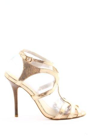 Buffalo London High Heel Sandaletten goldfarben Elegant
