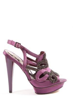 Buffalo London High Heel Sandaletten lila-schwarz Elegant