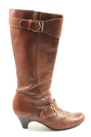 Buffalo London Botas de tacón alto marrón look casual