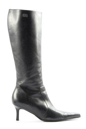 Buffalo London Laarzen met hoge hakken zwart casual uitstraling